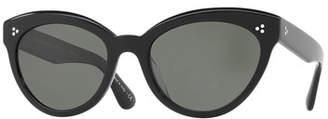 Oliver Peoples Roella Polarized Cat-Eye Sunglasses, Black