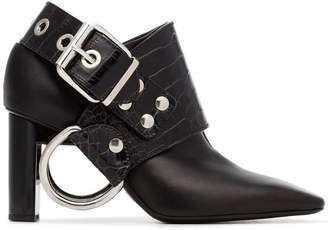 1017 Alyx 9SM black Sling 80 crocodile embossed leather boots