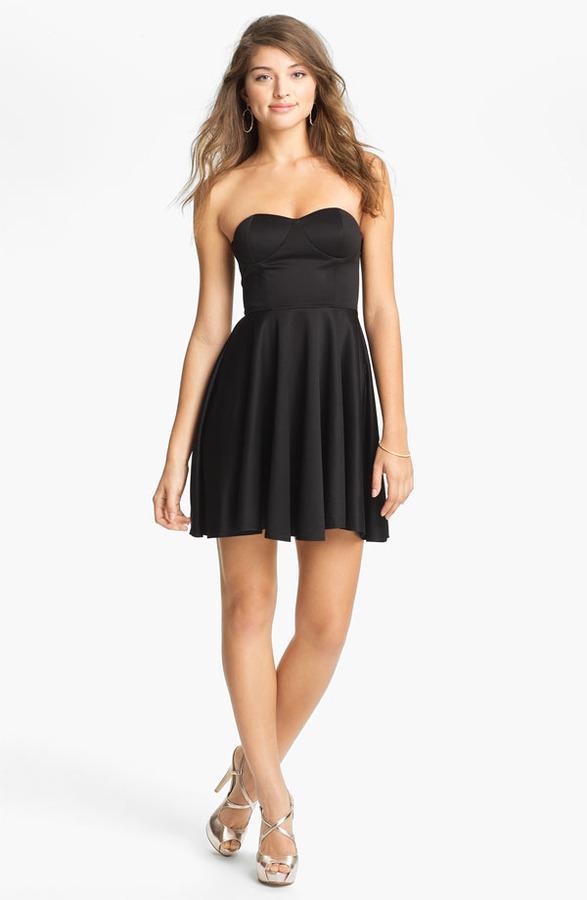 Blaque Label Strapless Fit & Flare Dress