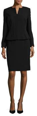 Arthur S. Levine Two-Piece Crepe Kiss Top and Skirt Suit