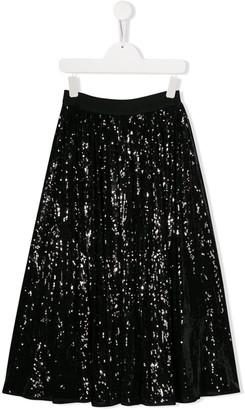 John Richmond Junior TEEN embellished midi skirt