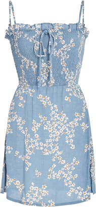 Marni Faithfull Smocked Voile Mini Dress