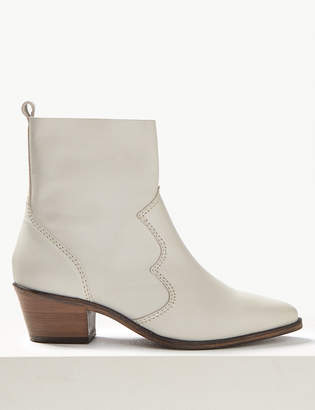 M&S CollectionMarks and Spencer Leather Western Boots