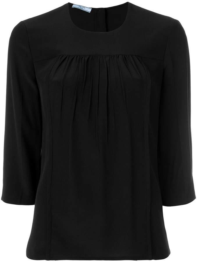 Prada gathered seam blouse