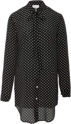 RED Valentino Polka Dot Button Down Top