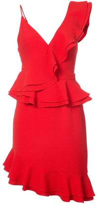 C/Meo asymmetric ruffle dress