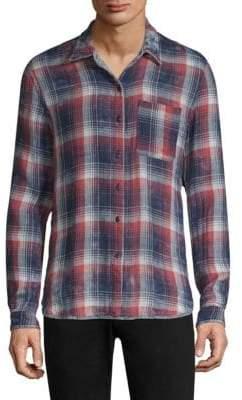 John Varvatos Red Double-Faced Reversible Button-Down Shirt