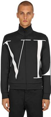 Valentino Vltn Logo Cotton Blend Track Jacket