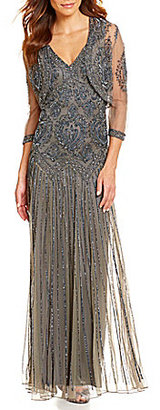 Pisarro Nights Beaded Cropped Bolero Jacket Dress $248 thestylecure.com