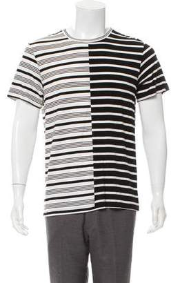 Ovadia & Sons Asymmetrical Striped T-Shirt