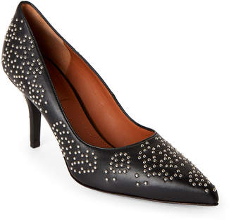 Givenchy Black Studded Pointed Toe Pumps