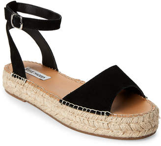 Steve Madden Black Irys Platform Espadrille Sandals