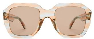 Celine Oversized Acetate Sunglasses - Womens - Blue Multi