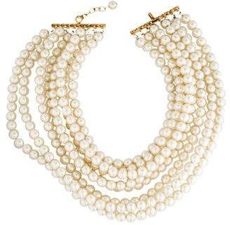 Multistrand Pearl Collar Necklace
