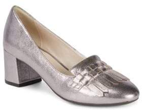 Cole Haan Mabel Grand Metallic Leather Pumps