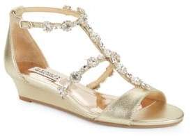 Badgley Mischka Terry II Embellished Wedge Sandals