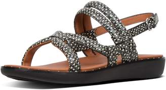 FitFlop Barely Dotted-Snake Leather Back-Strap Sandals