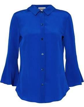 Moschino Fluted Silk Crepe De Chine Shirt