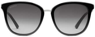 Gucci Round-frame acetate and sunglasses