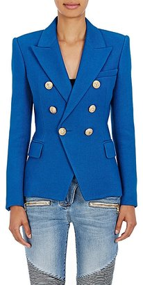 Balmain Women's Cotton Double-Breasted Blazer $2,240 thestylecure.com