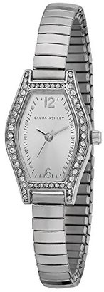Laura Ashley Women's LA31010SS Analog Display Japanese Quartz Silver Watch $51.99 thestylecure.com