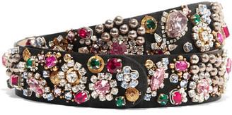 Alexander McQueen - Embellished Silk-satin Belt - Black $1,295 thestylecure.com