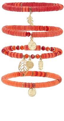 Forever 21 Beaded Charm Bracelet Set
