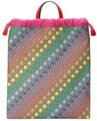 Gucci Children's GG rainbow star backpack