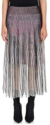 Balenciaga Women's Sheer Mesh Knee-Length Skirt