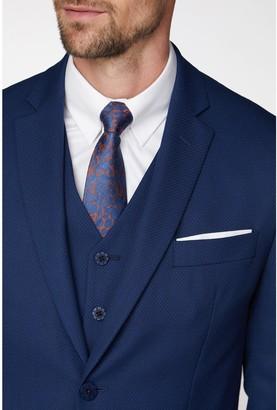 Textured Soho Suit Jacket In Modern Regular Fit - Blue