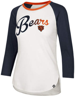 '47 Women's Chicago Bears Splitter Ombre Raglan T-Shirt