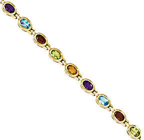 "QVC 8.10ct tw 7"" Multi-gemstone Bracelet, 14K Gold"