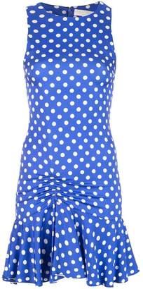 Caroline Constas short poka dot dress