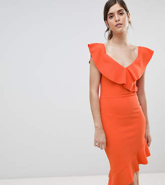 Silver Bloom Off Shoulder Midi Dress With Pephem c500b1c91