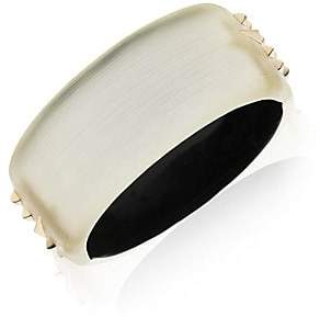 Alexis Bittar Silver Golden Studded Hinge Bangle