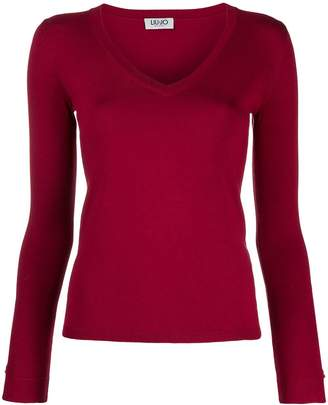Liu Jo fitted V-neck pullover
