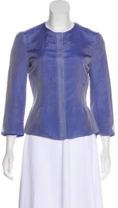 Armani Collezioni Silk Button-Up Top w/ Tags