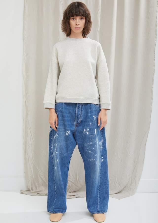 Splatter Paint Wide Leg Jean