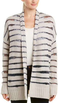 NYDJ Metallic Stripe Wool-Blend Cardigan