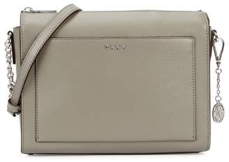 DKNY Bryant Grey Leather Cross