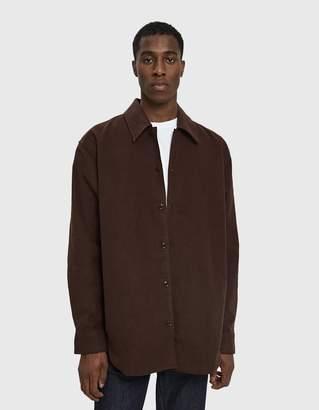 Acne Studios Minimal Military Shirt in Dark Brown