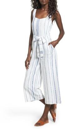 Women's J.o.a. Crop Stripe Cotton Jumpsuit $79 thestylecure.com
