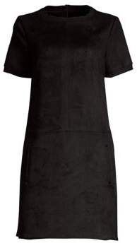 Elie Tahari Bridgett Faux-Suede Scuba Shift Dress