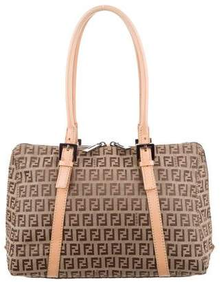 Fendi Leather-Trimmed Zucchino Bag