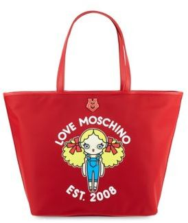 Love Moschino Printed Tote Bag