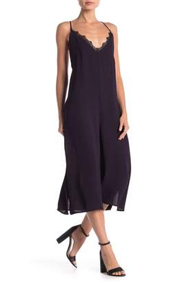 French Connection Esther Crepe Lace Trim Dress