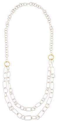 Gurhan Two-Tone Hoopla Double Strand Bib Necklace
