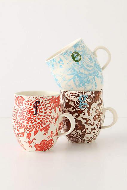 Anthropologie Homegrown Monogram Mug