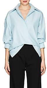 Marc Jacobs Women's Cotton Oxford Cloth Oversized Blouse - Turquoise