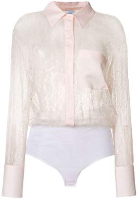Dondup sheer lace shirt